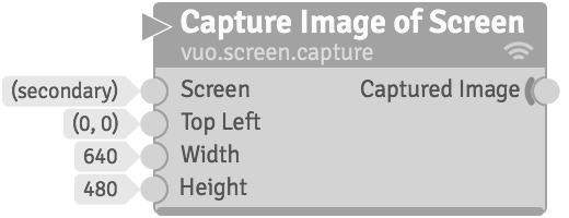 Vuo Node Documentation: Capture Image of Screen (vuo screen